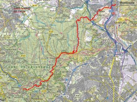 Mapa ICC Montcada Reixac - Baixador de Vallvidrera