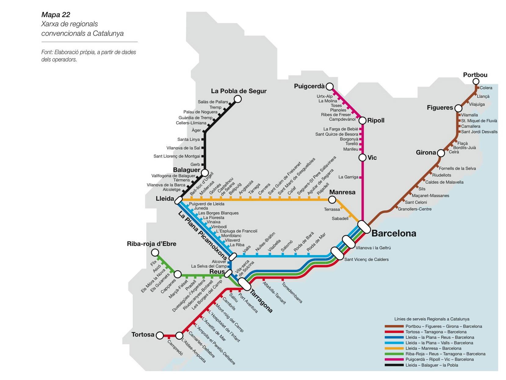 Mapa Renfe Regional Catalunya.Tarragona Reus Galeria De Imagenes