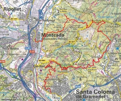 34. Mapa Can Zam - Montcada i Reixac