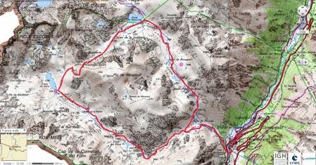 Mapa ruta L´Ospitalet. Portella de Sisca