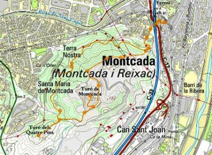 Mapa Turó de Montcada_petit