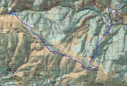 Mapa ruta 40 Toses a Planoles