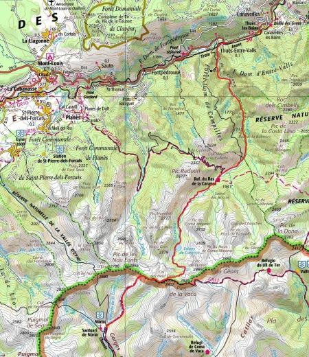 Mapa ruta Núria-Carançà