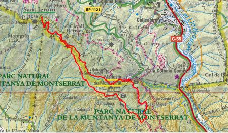 Mapa Ruta 41