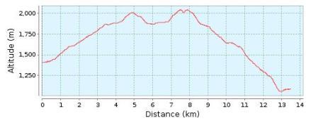 Perfil ruta 40 Toses a Planoles