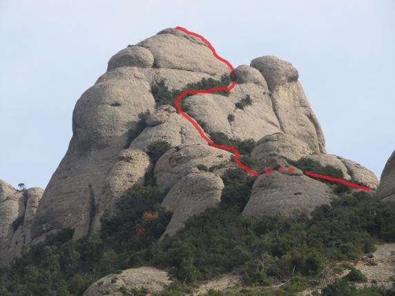 Ruta dibuixada de la pujada a l'Elefant