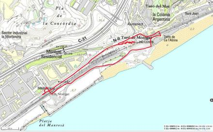 Mapa ruta Turó de Montgat ICC