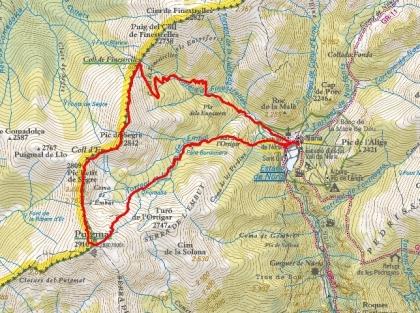 Mapa Puigmal Ruta 49 ICC