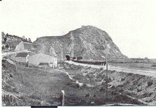 Imatge històrica del túnel de Montgat (Font Rodalies Catalunya)