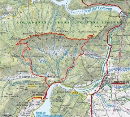 Mapa Ruta Pala Alta