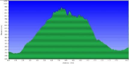 Perfil ruta Pala Alta
