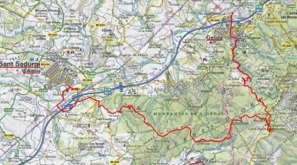 Mapa ruta 59 Gelida_petit