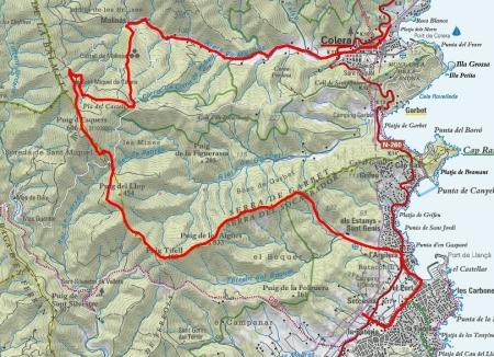 Mapa ruta Llançà-Colera_PETIT