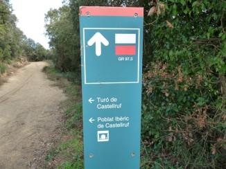 Ruta ST01 Indocador al poblat ibèric de Castellruf