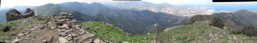 Panorama des de la Torre de Querroig