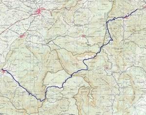 Mapa de la Ruta L'Argentera-Capçanes