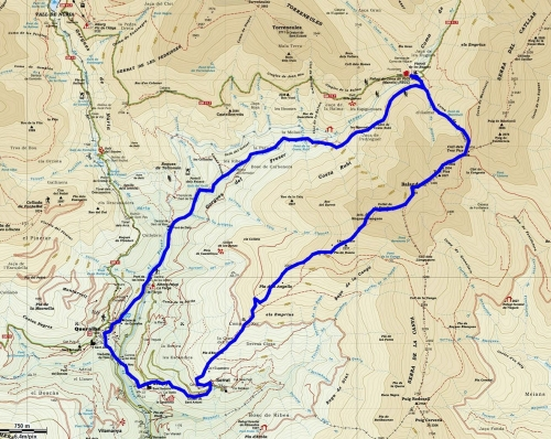 Mapa ruta Balandrau