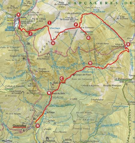 Mapa ruta Queralbs - Torreneules - Núria_LLETRES