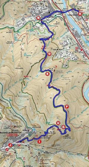 Mapa 77 Monistrol - Montserrat Canal Aigues_lletres