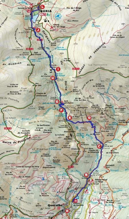 Mapa Queralbs-Núria per Daió_punts