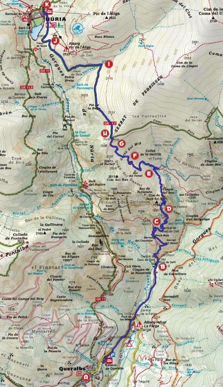 Mapa Queralbs-Núria per Totlomón_punts