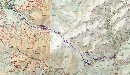 Mapa Queralbs-Osseja_2_punts