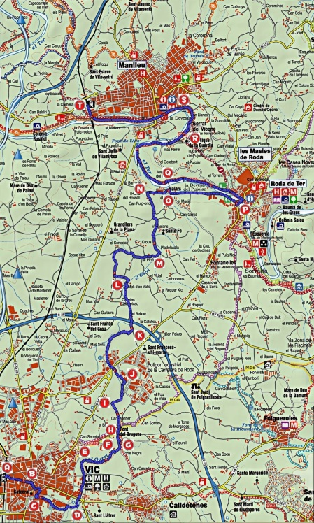 Mapa Vic-Manlleu_punts
