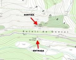 Topogràfic: entrada i sortida del túnel