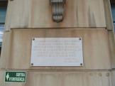 Placa commemorativa de la electrificació