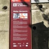 Placa Espais de Memoria Walter Benjamin