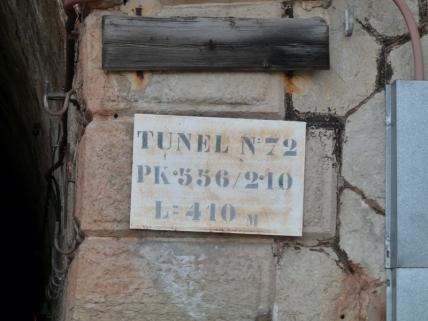 Entrada túnel 72 a l'estació del Pradell