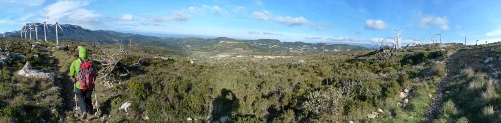 Serra de l'Argentera. Baixant cap al Pradell