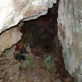 Ruta ST116 Interior de la Cova de Sant Cristòfol (Falset)