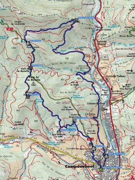 Mapa ruta 124