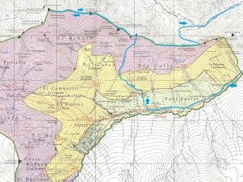 Mapa Solana d'Andorra