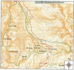Mapa dels Cortons