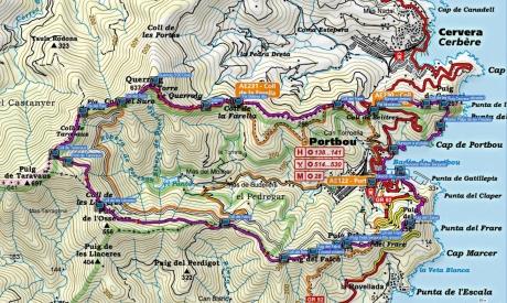 Mapa Olla de Portbou