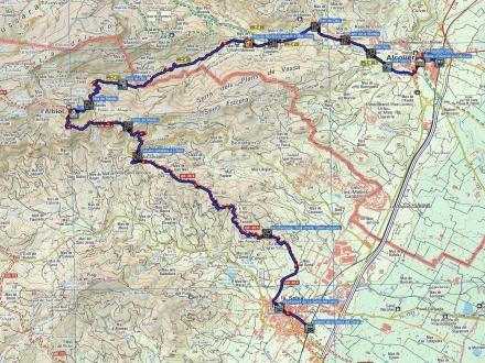 Mapa ruta La Selva del Camp