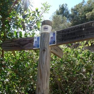 Cartells de fusta de la ruta