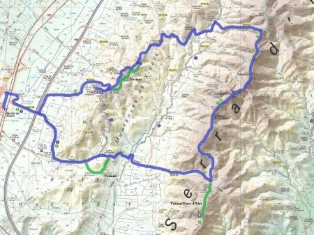 Mapa Serra d'Irta_ruta2