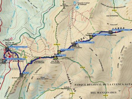 Retallat mapa cuerda larga