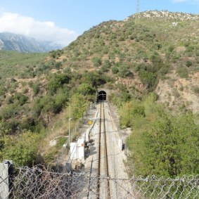 Antiga localització de l'estació de La Puda