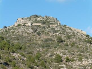 Castell de Montornés cara sud