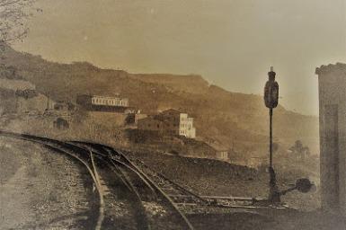 Cul-de-sac accés a l'estació de Monistrol Nord