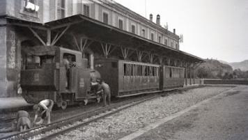 Cremallera a l'estació de Monistrol Nord (Catellbell i el Vilar-Monistrol)
