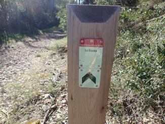 Pal indicador ruta pel traçat del cremallera