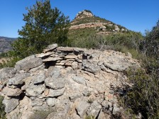 Coll de Cabra. Barraca pedra seca