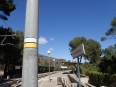 Senyal de PR a l'estació Aeri de Montserrat