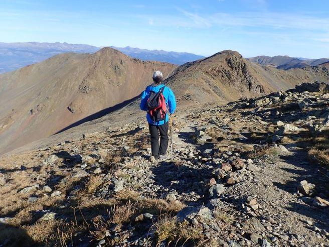 Baixant del Puigmal. Pic Petit del Segre Sud en primer terme