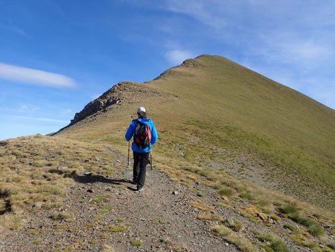 Pujant al Puig del Coll de Finestrelles